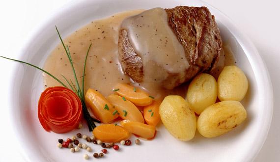 Filetes de Pollo en Salsa de Champiñones Filete en Salsa a la Pimienta