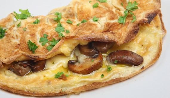 ¿Cómo hacer omelette de champiñones?