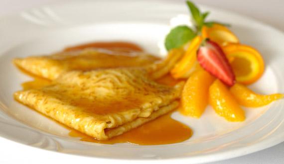 Panqueques con salsa de naranja gourmet for Salsa para crepes