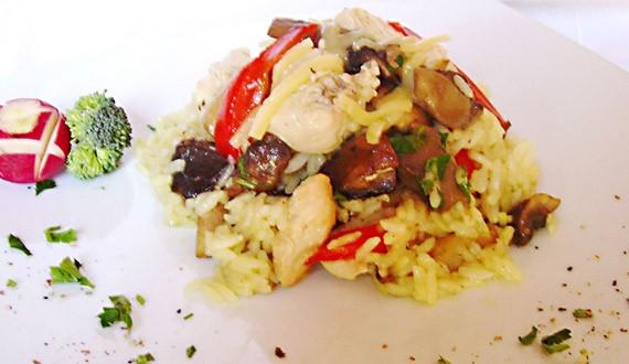 Receta Risotto de Pollo con Verduras