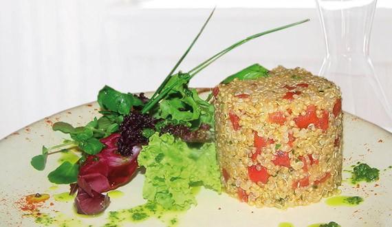Receta timbal de quinoa