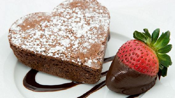 Brownies de corazón