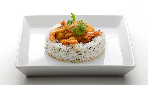 Receta Curry de Camarones
