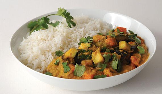 Receta Curry de Verduras