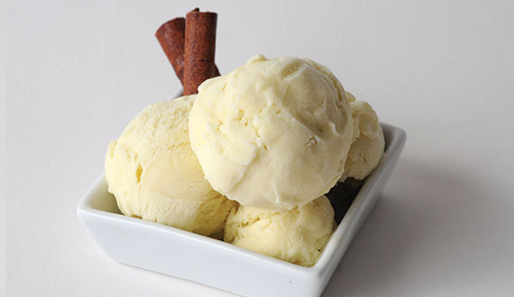 Receta helado de canela