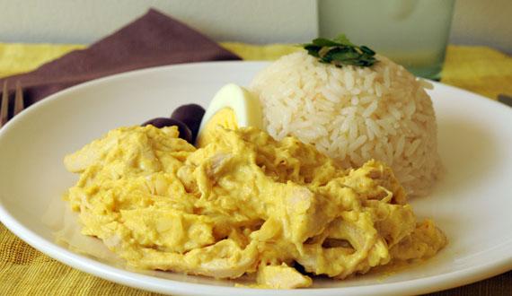 recetas del aji de gallina