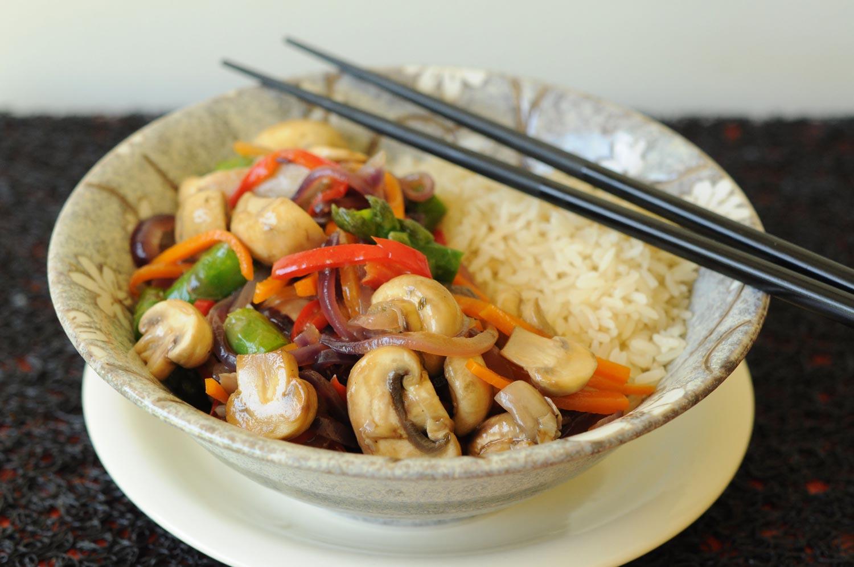 wok de verduras salteadas gourmet