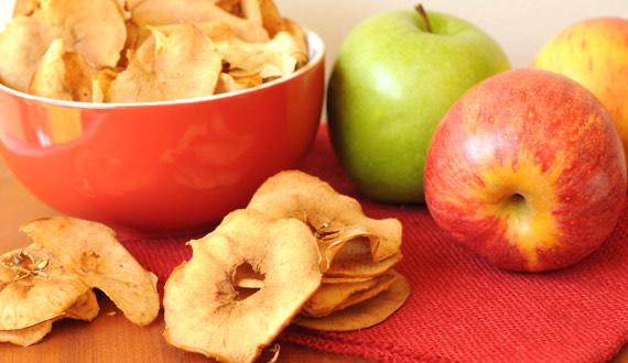 Receta Chips de Manzana con Canela
