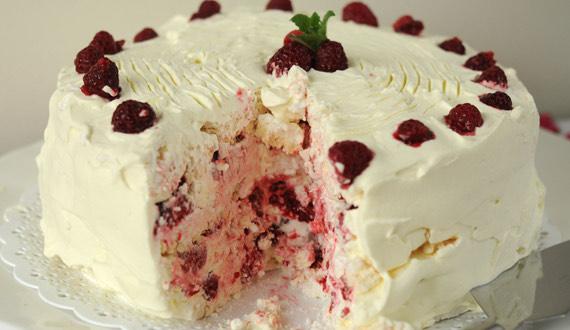 Receta torta merengue frambuesa