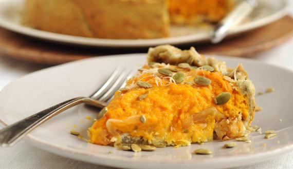 Pastel de Zapallo y Cebolla Caramelizada