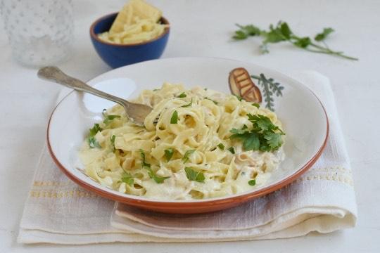 Receta Fetuccini con Salsa alfredo