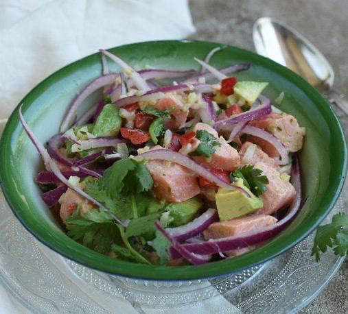 ¿Cómo hacer ceviche de salmón?