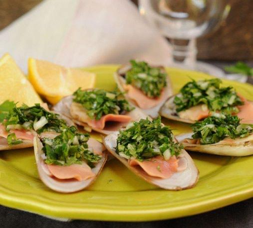 Machas en Salsa Verde Receta