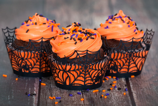Cupcackes de Chocolate Chips para Halloween