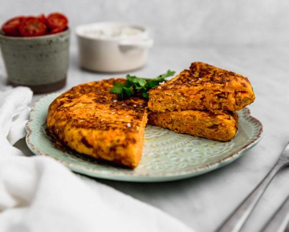 Receta tortilla de zanahoria