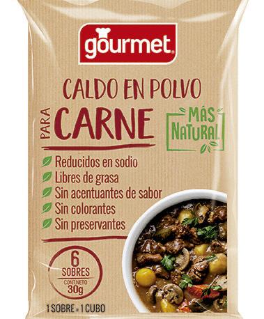 Caldo en Polvo Más Natural Para Carne