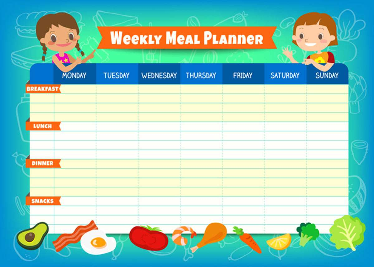 Organizar menú semanal