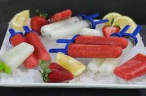 Receta paletas de frutilla