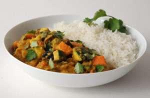 Curry vegetariano de verduras