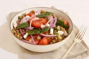 Ensalada vegetariana de lentejas