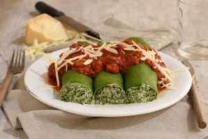 Panqueques vegetarianos de acelga
