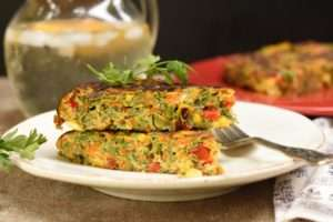 Tortilla vegetariana de verduras
